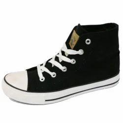 Men Black Canvas Shoes