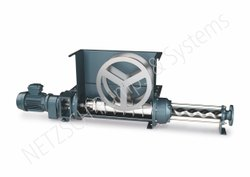 Hopper with Feeding Screw Pump