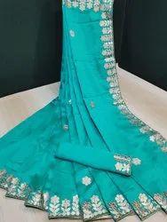 Gotapatti Work Silk Saree