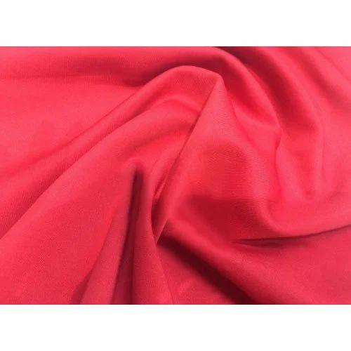 Red Plain Scuba Fabric