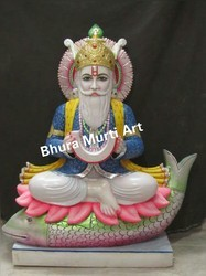 Jhulelal White Marble Statue
