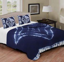 Handmade Shibori Print Throw Tie Dye Bed Sheet