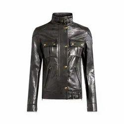Full Sleeve Leather Ladies Full Sleeves Biker Jacket, Size: S-XXL