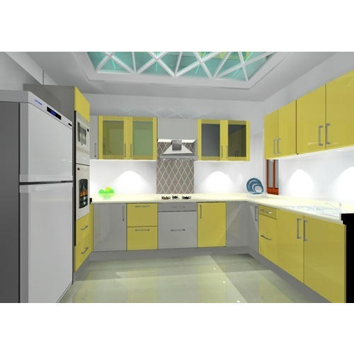 Kutchina Modular Kitchen Price At Rs 75000 Number: Modular Solid Wooden Kitchen At Rs 75000 /unit