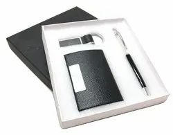 3 In 1 Key Chain, Card Holder And Crystal Pen Gift Set