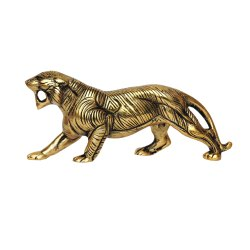 Gold Plated Brass Tiger Statue