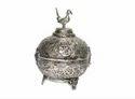 AJN-114 Silver Plated Brass Sindoor Box
