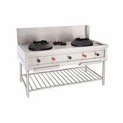SS LPG Chinese 2 Burner Cooking Range for Restaurant