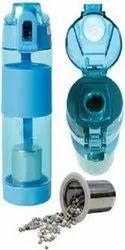 Blue Alkaline Plastic Water Bottle, Capacity: 1000 Ml