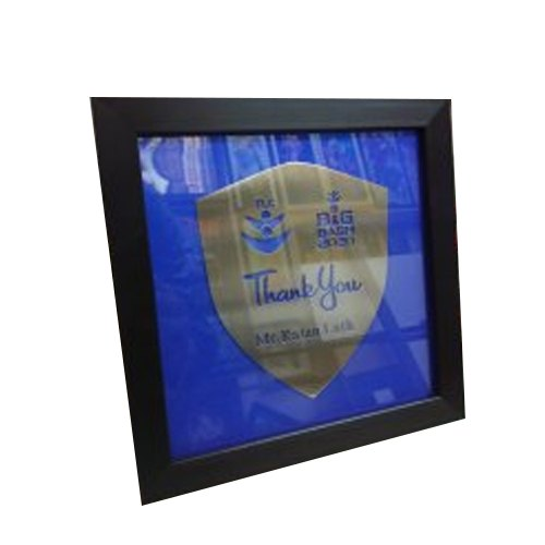 Mild Steel Laser Cutting Momento Frame, For Office