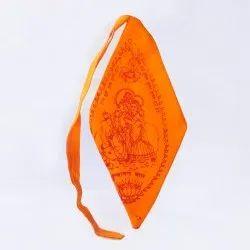 Printed Saffron Radha Krishna Mala Bag