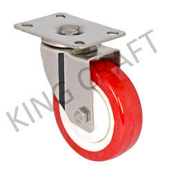 Stainless Steel Plate Type Die Pressed Swivel Caster