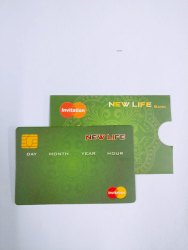 Glossy Optional Desigher ATM Invitation Card