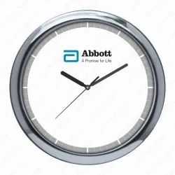 White Analog Wall Clock, Model Name/Number: Gs-78, Size: 12 (dia)