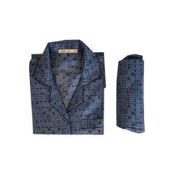 XS-XXXL Cotton Mens Printed Night Suit