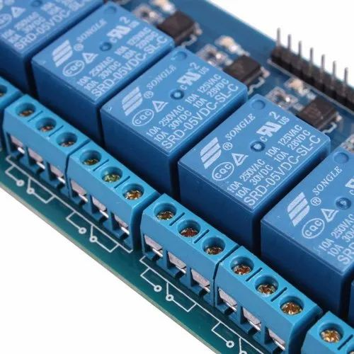 8 Channel Relay Control Panel PLC Relay 5V Module With Optocoupler For  Arduino