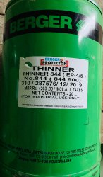Toluene Berger Thinner 844 - Epoxy Thinner, Packaging Type: Can, Packaging Size: 20 Ltrs