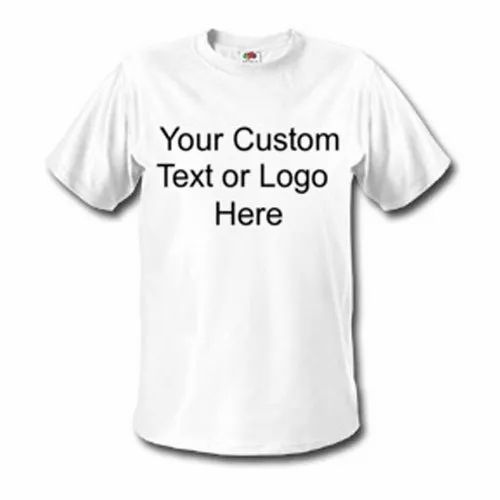 Cotton White Custom Printed T Shirts