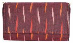 Azzra Brown E Cut Fabric Clutch