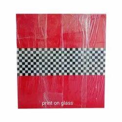 Check Printed Glass, Size: 5x7 Feet