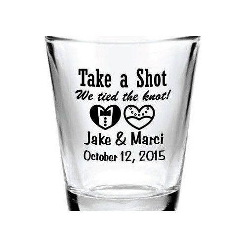 Silver Ink Transparent Custom Tequila Shot Glass Rs 180