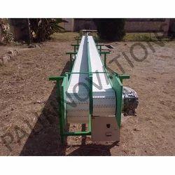 Stainless Steel Semi-Automatic Food Handling Conveyor, Capacity: 1-100 kg