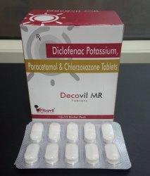 Diclofenac Potassium, Paracetamol & Chlorzoxazone Tablets