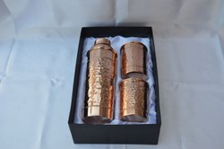 Copper Bottle W/Lid, Capacity (Millilitre): 1000