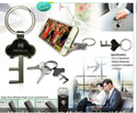 Metal Keychain with Mobile Holder