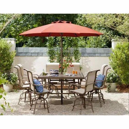 Red Patio Table Garden Umbrella Rs