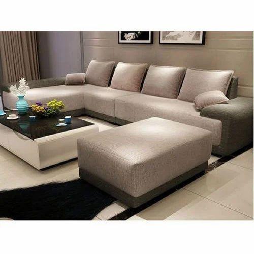Solid Wood L Shape Sofa Set Rs 8500