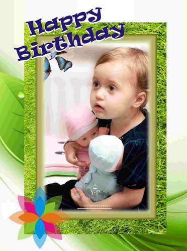 Egiftmaart Personalized Square Birthday Cards A4 Size