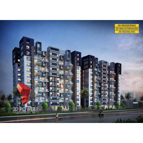 Architectural Apartment Rendering: Apartment Architectural Rendering In Mondha, Aurangabad