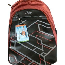 Red Polyester Skybags Backpack