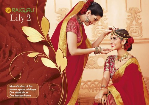 Rajguru Lily-2 Fancy Soft Silk Summer Sarees
