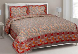 Elegant Print Cotton Double Bedsheet