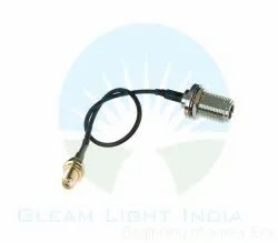 RF Cable Assemblies SMA Female to N Female Bulkhead in LMR 200