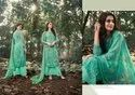 Prodigious Georgette Embroidered Palazzo Salwar Kameez