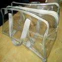 Clear Vinyl PVC Zipper Bag