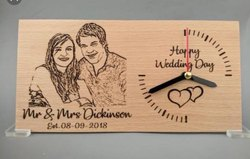 Wooden Engrave Watch