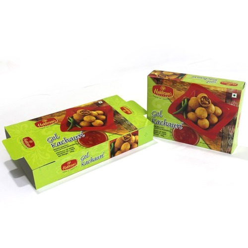 Multicolor Snacks Packaging Box