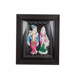 Radha Krishna Silver Frame
