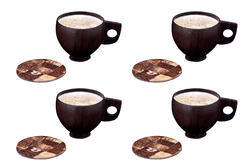 Coconut Shell Tea Cup & Coaster set