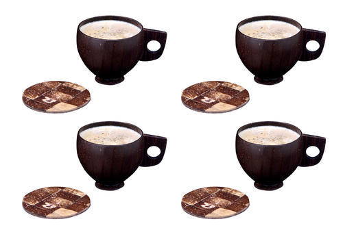 Coconut Shell Tea Cup & Coaster set, for Home