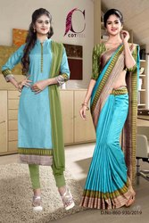 Corporate Uniform Uniform Sarees And Salwar Kameez Combo
