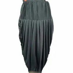 Black Cotton Ladies Plain Dhoti