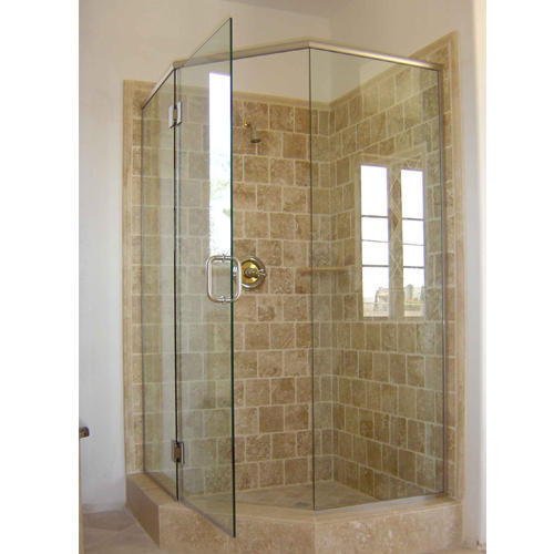 Corner Shower Glass Cabin, स्नानगृह - Meera Glass Traders ...