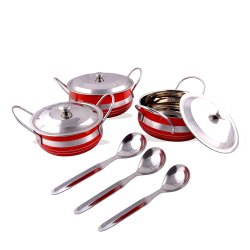 Rident Kitchen Stainless Steel Handi Serving Pot with Steel Lid