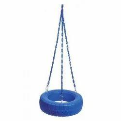 3 Chain Rubber Tire Swing Seat Set