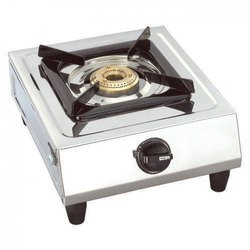 Stainless Steel Single Burner Gas Stove, Size: 305 x 340 x 100 mm